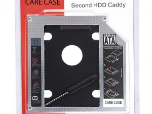 CARE CASE® Optical Bay 2nd Hard Drive Caddy, 9.5 mm CD/DVD Drive Slot for SSD and HDD