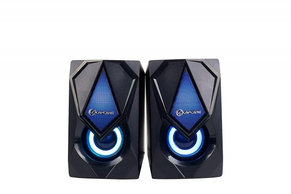 Lapcare USB2.0 Game Speaker 6W 2.0 Multimedia Speaker with Aux Connectivity,USB Powered and Volume Control (LUS-003)