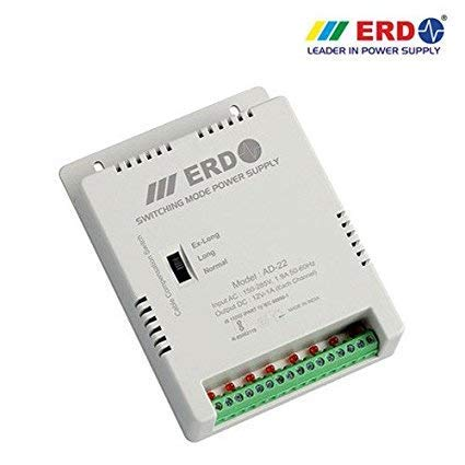 ERD AD22 8 Channel Power Supply for CCTV Cameras (White)