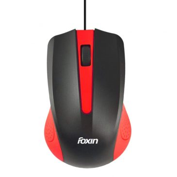 Foxin Classy-Red Wired Optical Mouse (Red)