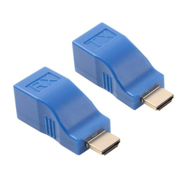 Microware HDMI Male to RJ45 Extender Adapter (Receiver &Transmitter by Cat-5e/6 Cable, Transmission Distance: 30m